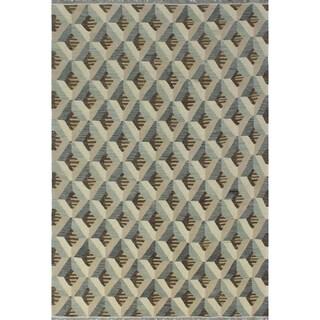 Noori Rug Winchester Kilim Blaeey Beige/Brown Rug - 6'1 x 8'11