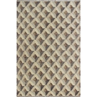 Noori Rug Winchester Kilim Cleon Beige/Brown Rug - 6'1 x 9'0