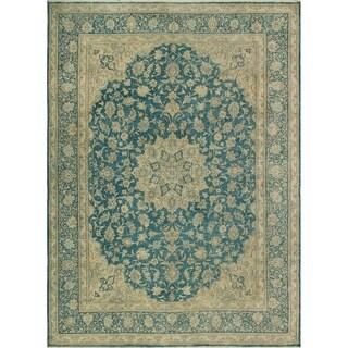 """Noori Rug Fine Vintage Distressed Aekerman Blue/Beige Rug - 8'10"""" x 11'11"""""""
