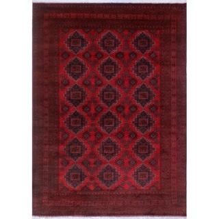 Noori Rug Khal Mohammadi Brandin Red/Black Rug - 8'4 x 11'6