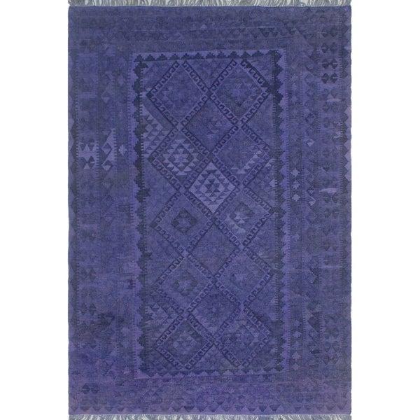 Overdyed Kilim Corwin Purple/ Rug