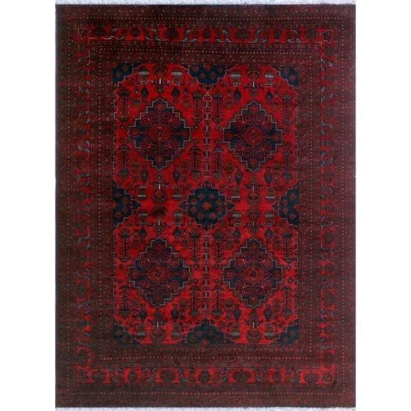 Noori Rug Khal Mohammadi Codie Red/Black Rug - 8'3 x 11'4