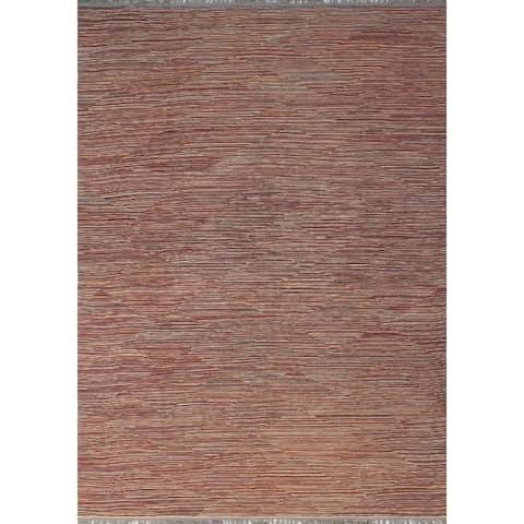 Noori Rug Winchester Kilim Chris Red/Beige Rug - 9'8 x 14'2