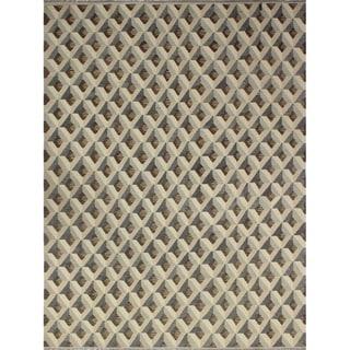 Noori Rug Winchester Kilim Alyx Brown/Beige Rug - 10'8 x 14'1