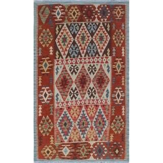 Noori Rug Sangat Kilim Clayborne Rust/Beige Rug - 4'0 x 6'9