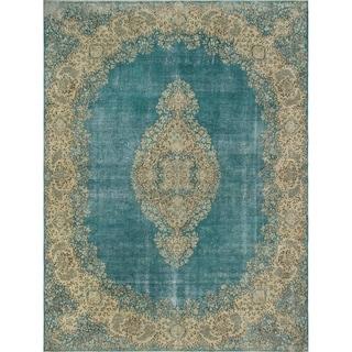 "Noori Rug Fine Vintage Distressed Franki Blue/Beige Rug - 9'11"" x 13'2"""
