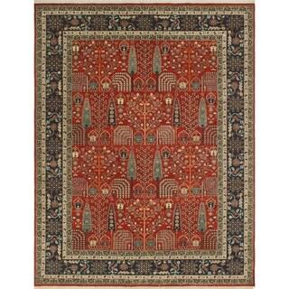 Noori Rug Aria Fine Chobi Marwood Red/Blue Rug - 8'11 x 11'7