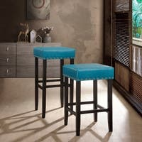 Nora Nail head Trim Backless Stool