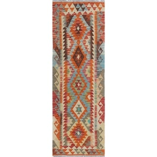 Sangat Kilim Blakeley Rust/Gold Rug (2'4 x 6'9)