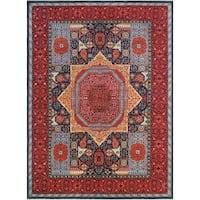 Noori Rug Aria Fine Chobi Alfrid Blue/Red Rug - 9'10 x 13'8