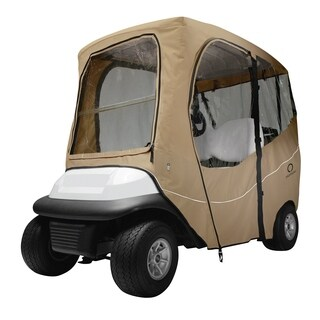 Classic Accessories Fairway 40-049-335801-00 Deluxe Golf Car Enclosure, Short Roof, Khaki