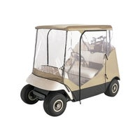 Shop 'All Season' White Golf Cart Cover - Free Shipping Today ... Knight Golf Cart Folding Html on