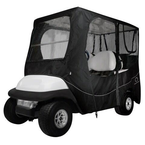 Classic Accessories Fairway 40-055-340401-00 Deluxe Golf Car Enclosure, Long Roof, Black
