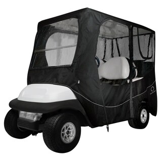 Classic Accessories Fairway 40-055-340401-00 Deluxe Golf Car Enclosure, Long Roof, Black