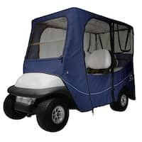 Classic Accessories Fairway 40-053-345501-00 Deluxe Golf Car Enclosure, Long Roof, Navy