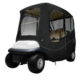 Classic Accessories Fairway 40-054-330401-00 Deluxe Golf Car Enclosure, Short Roof, Black