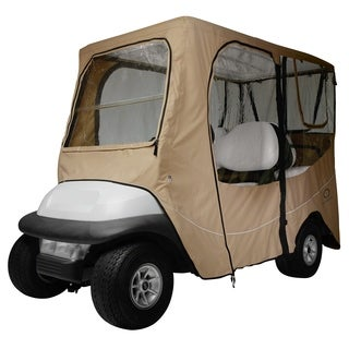 Classic Accessories Fairway 40-050-345801-00 Deluxe Golf Car Enclosure, Long Roof, Khaki