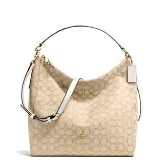 Coach F58327 Celeste Hobo Crossbody Khaki White