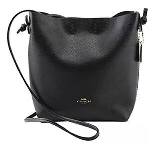 Coach 58661 Leather Derby Shoulder Bag Black