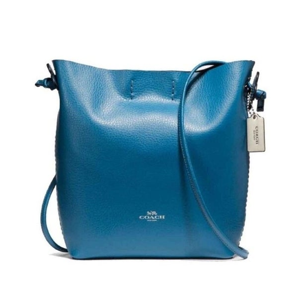 c156d56d0629 Shop Coach 58661 Leather Derby Shoulder Bag Blue - On Sale - Free Shipping  Today - Overstock - 19972557