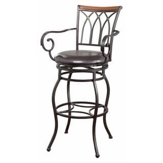 "29"" Decorative Metal Bar Height stool, Black"