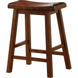 Wooden Casual Counter Height Stool, Chestnut Brown