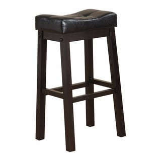 Wooden Sofie Backless Counter Height Stool, Black
