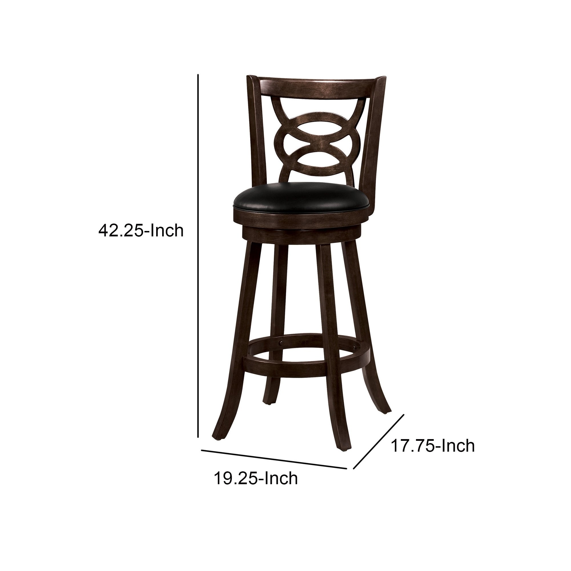 Swivel Bar Stool With Upholstered Seat