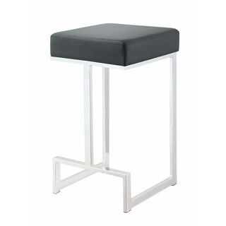 Silver Orchid Dennes Metal Counter Height Stool, Black