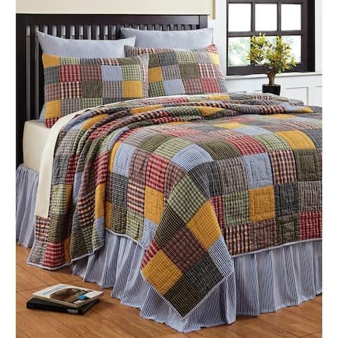 Cottage Home Reversible Cotton 3-piece Quilt Set