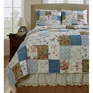 Gracewood Hollow Steinbeck Handmade Patchwork 3-piece Quilt Set