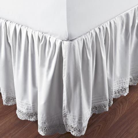 Gracewood Hollow Garcia Ruffled Bella Crochet 18-inch Bedskirt