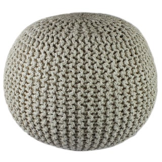 Oliver & James Pippin Hand-knitted Cotton Pouf