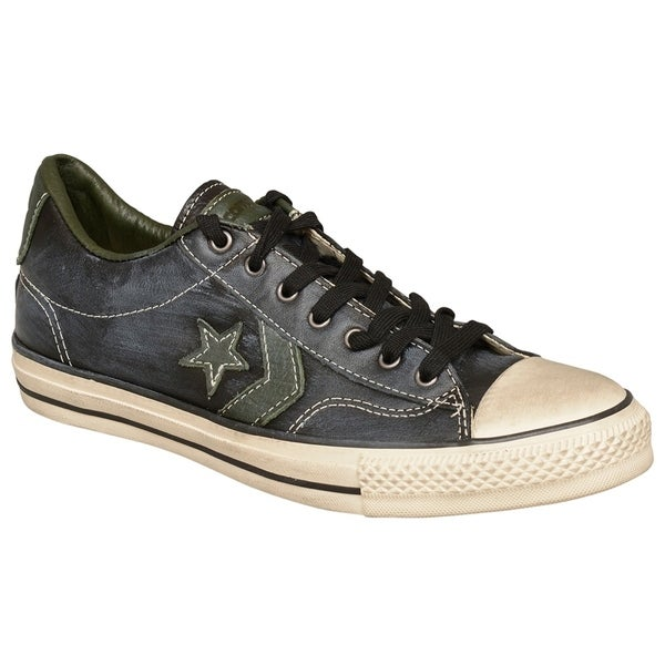 931e95813d71 Shop John Varvatos Converse All Star JV SP Ox Black Leather Sneakers ...