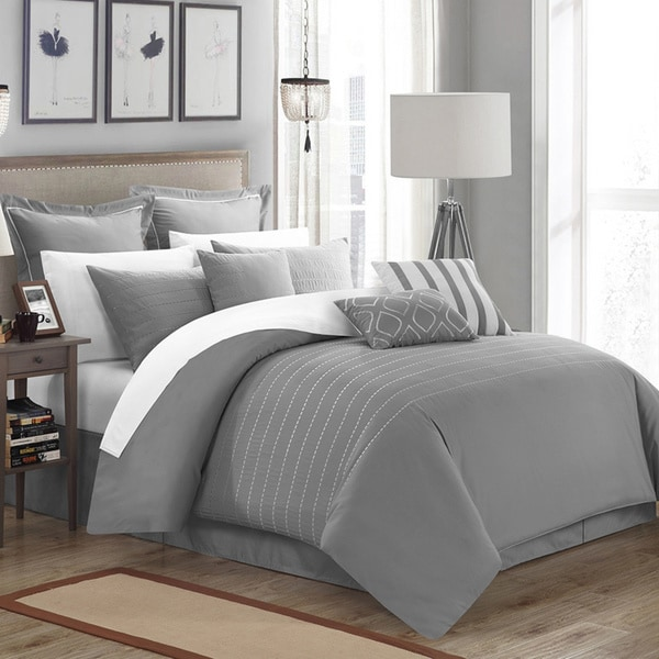 Carson Carrington Juelsminde 13-piece Grey Embroidered Comforter Set