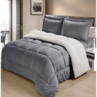 Copper Grove Pontica Ultra Plush Faux Suede and Sherpa 3-piece Comforter Set