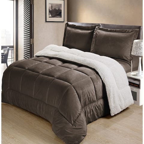 Copper Grove Pontica Faux Suede 3-piece Comforter Set