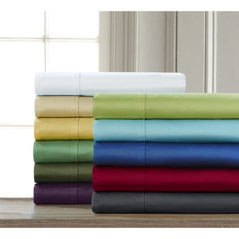 Fiesta 300 Thread Count Cotton Solid 3 & 4 Piece Sheet Set