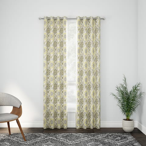 Carson Carrington Stjordalshalsen Cotton Medallion Printed Window Curtain Panel