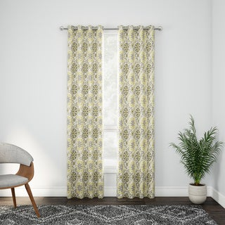 Palm Canyon Bolero Cotton Medallion Printed Window Curtain Panel