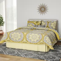 The Curated Nomad La Boheme Yellow Complete Comforter and Cotton Sheet Set