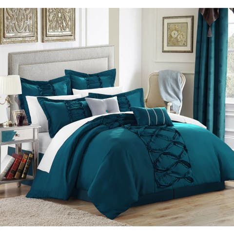 Gracewood Hollow Khadra Turquoise 12-piece Bed in a Bag with Sheet Set