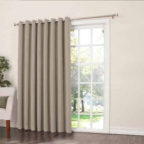 Porch & Den Nantahala Rod Pocket Room Darkening Patio Door Single Curtain Panel