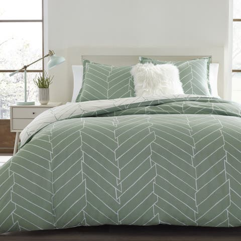 Carson Carrington Bramming Pastel Chevron Cotton Duvet Cover Set