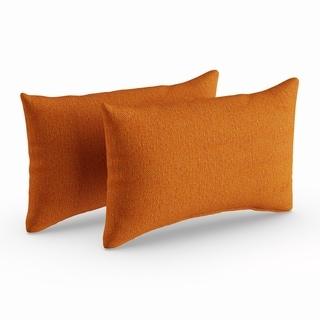 Carson Carrington Etseri Orange 12-inch Throw Pillows (Set of 2)