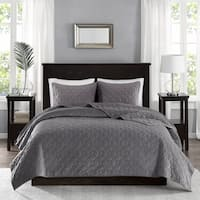 Madison Park Emery Velvet Coverlet Mini Set 5-Color Option