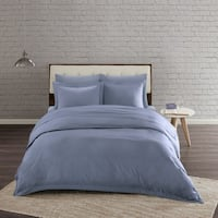 Urban Habitat Comfort Wash Cotton Duvet Cover Mini Set 4-Color Option