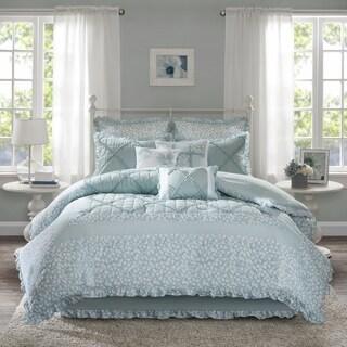 The Gray Barn Sleeping Hills 9-piece Aqua Cotton Percale Duvet Cover Set
