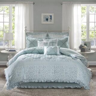 The Gray Barn Sleeping Hills 9-piece Aqua Cotton Percale Comforter Set