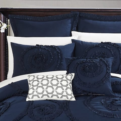 Gracewood Hollow Harper 7-piece Navy Comforter Set